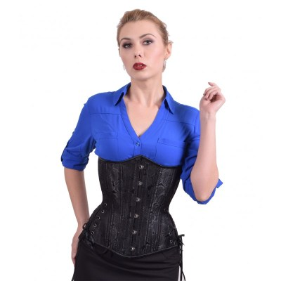black-floral-long-corset-waist-training