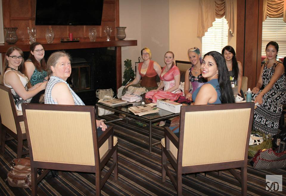 Some of the attendees of the North American Lingerie and Corsetry Symposium - photo credit to Heidi of Strait-Laced Dame