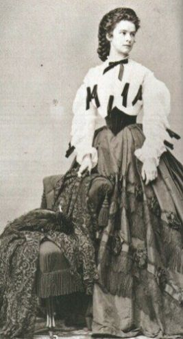 Empress Sissi (Elisabeth of Austria) wearing a Swiss waist belt.