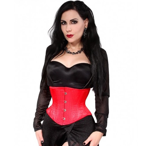 74582b88eb8 Hourglass Red Brocade Cincher – Lucy s Corsetry