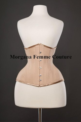 ca19774121a Morgana Femme Couture Nude Coutil Waist Training   Tightlacing Corset  ( 230