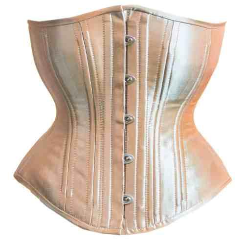Champagne Satin hourglass corset