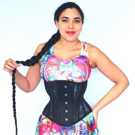 Hourglass Fine Weave Mesh corset