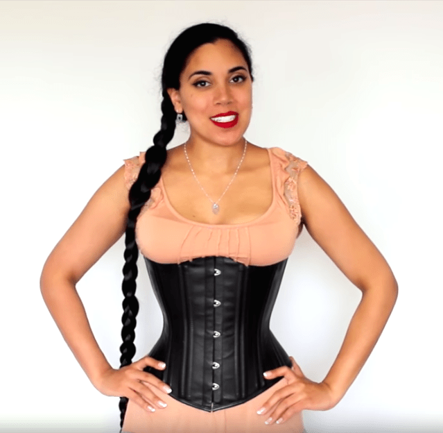 Glamorous Dita midlength corset for sale at Lucy's Corsetry $84 USD