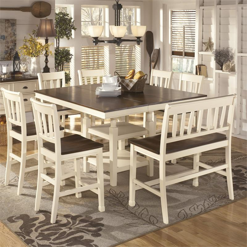 drop leaf kitchen table chairs resin and set d583-sd whitesburg counter height collection sale