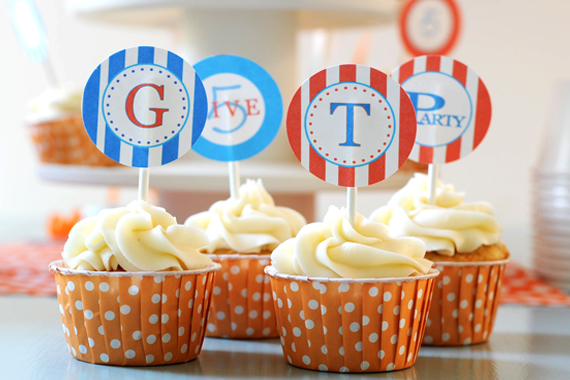 5th Birthday Party :: Blue + Orange