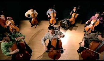 Steven Sharp Nelson – The Cello Song – Bach is back (with 7 more cellos)…