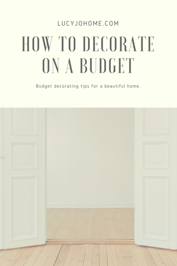 Decorate on a Budget