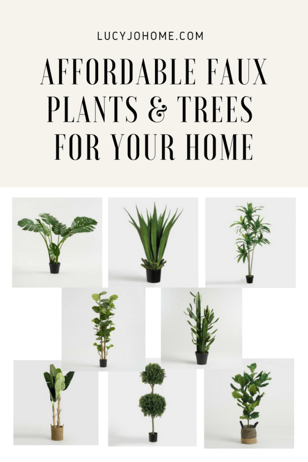 Affordable Faux Plants and Trees for Your Home