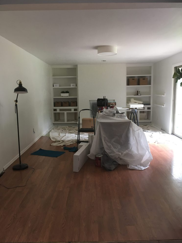 Spray Painting a Living Room