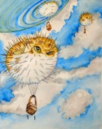 Surreal Hot Air Balloon Pufferfish