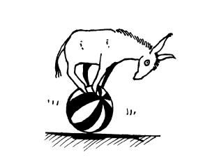 donkey ball vector