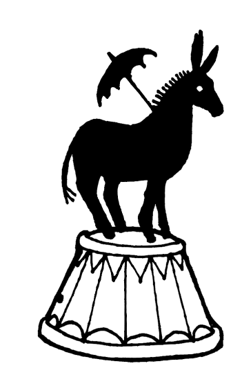 donkey drum vector