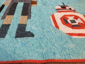 Close up on the quilting