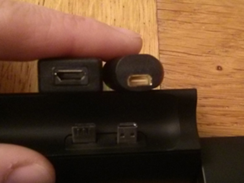 There was no way the micro USB (left) and micro HDMI (right) adaptors were going to fit side by side!