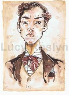 Portrait of self as Victorian man