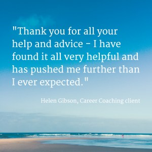 Image: career coaching client quote for Lucy Stanyer Life Coach