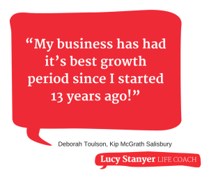 Deb Toulson best biz growth quote https://lucystanyerlifecoach.com/small-business-coaching/