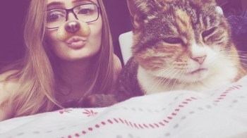 Forever taking selfies with my pets.