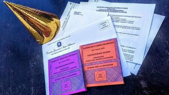 Come votare dall'estero: le schede elettorali