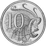 Uccello lira sulla monetina australiana