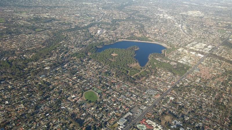 Adelaide città dall'alto