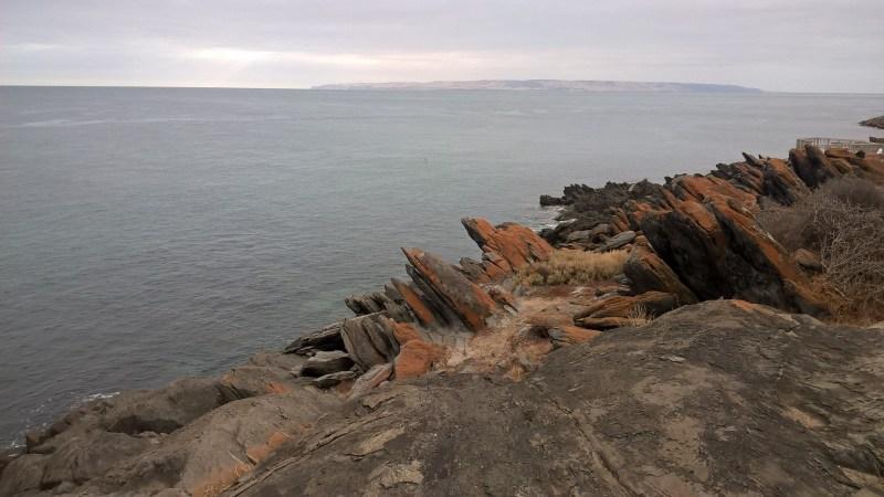 Kangaroo Island panorama mare e rocce