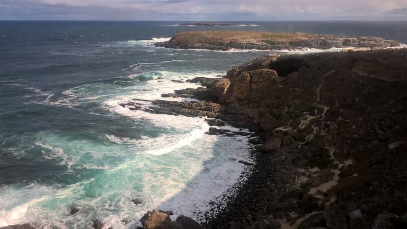 Kangaroo Island punto panoramico con sole mare e scogli