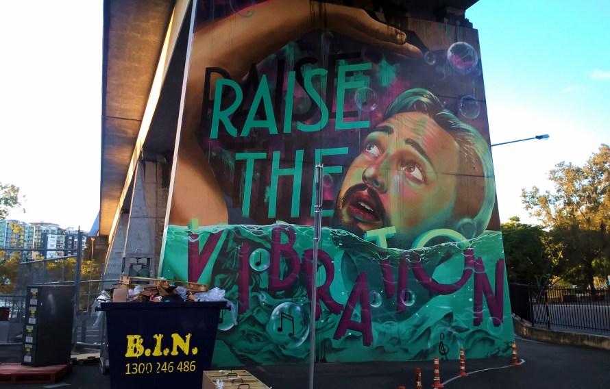 brisbane street art sottopasso