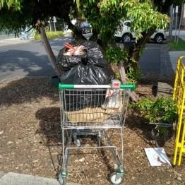 melbourne rifiuti urbani abbandonati con carrello