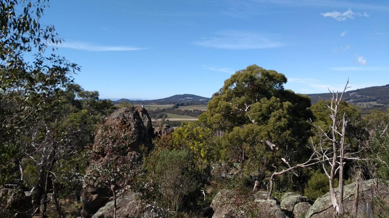 Vista da hanging rock