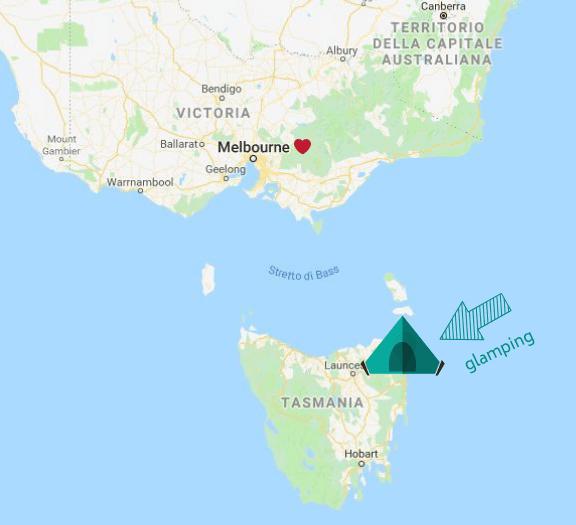 mappa glamping tasmania