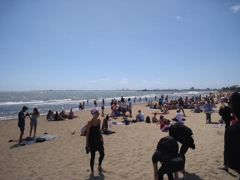 natale in spiaggia melbourne