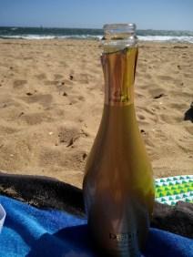 spumante di natale in spiaggia
