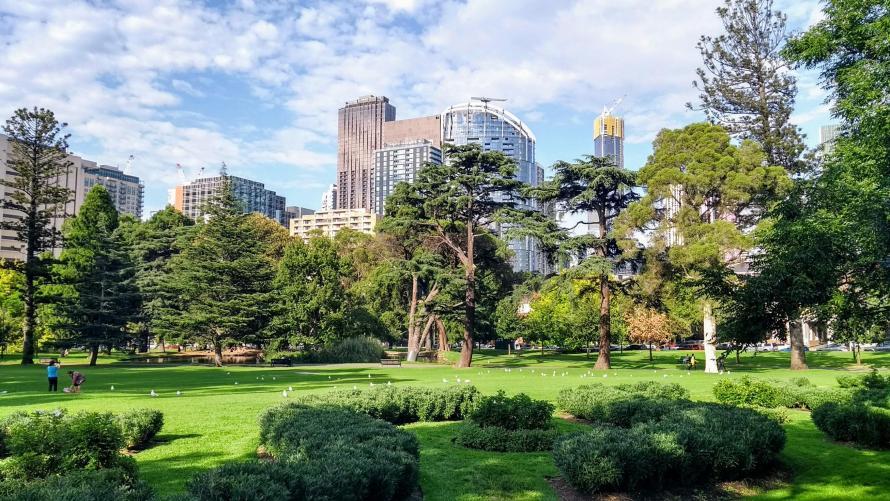 Studiare in Australia: pausa ai Melbourne Carlton Gardens