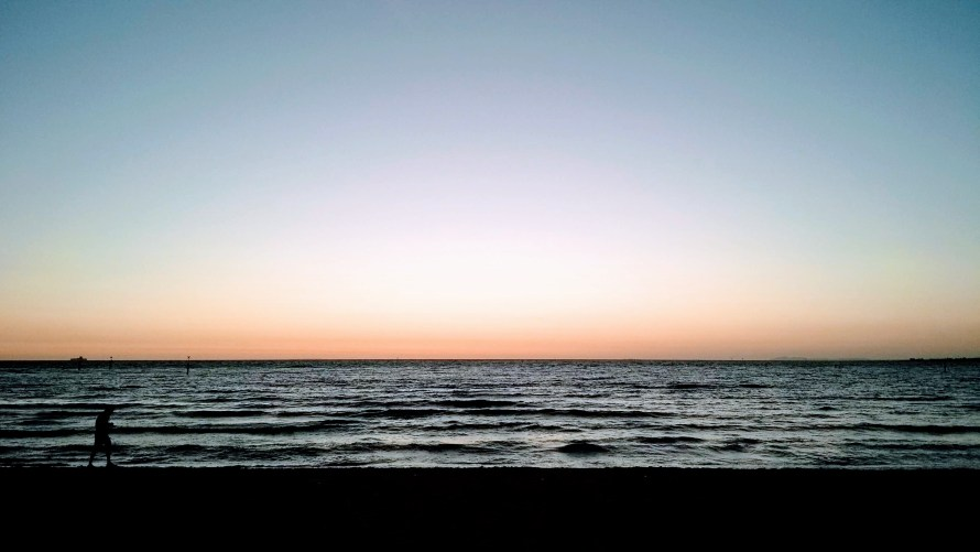 mare tramonto st kilda