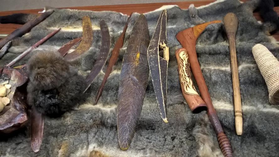 armi e oggetti aborigeni
