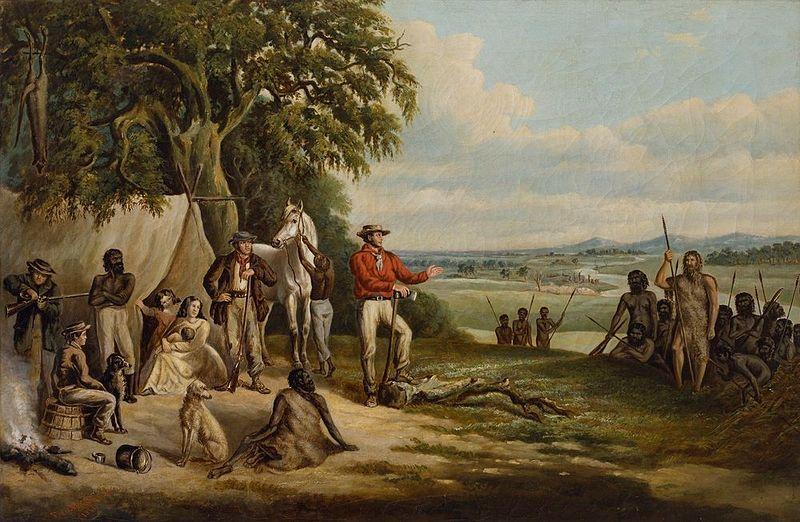 i primi coloni scoprono william buckley quadro