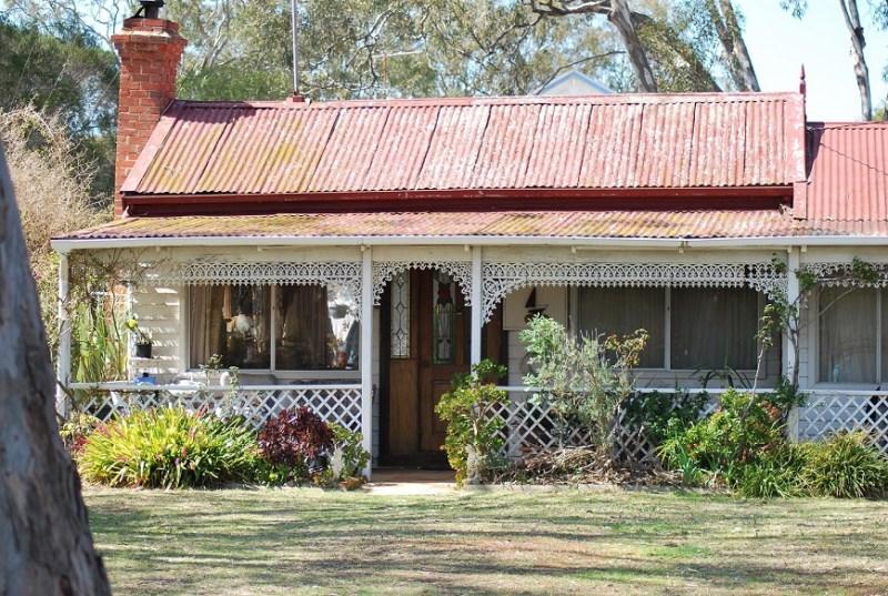casa con facciata tipica australiana a raymond island