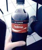 coca cola bottiglia con nome salma