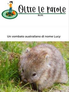 Intervista di Lucy the Wombat per il blog Oltre le Parole