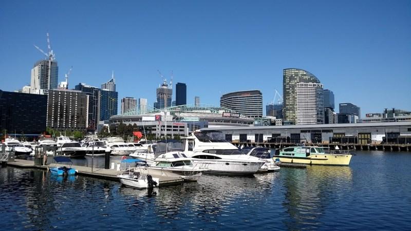 Melbourne chic: barche ai Docklands