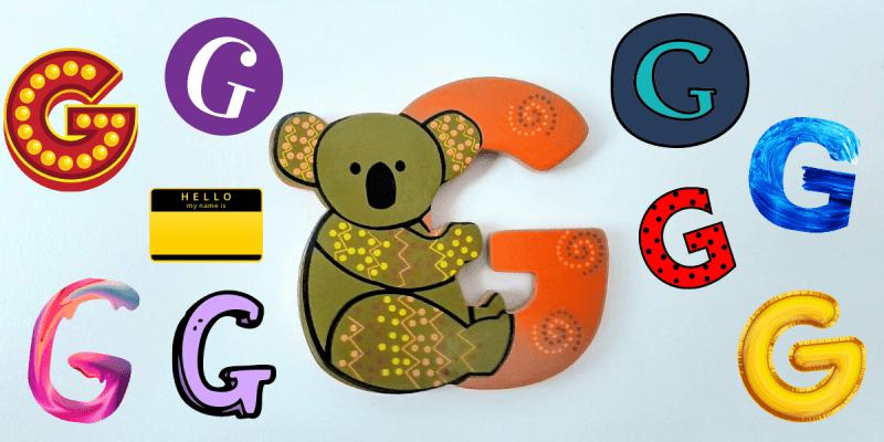Chiamarsi Giulia: tante lettere G