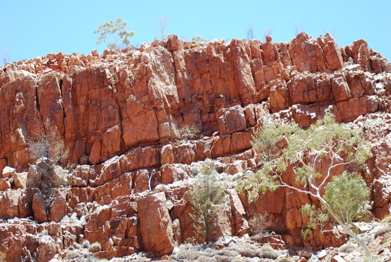 Red Centre o Australia centrale: rocce rosse tipiche