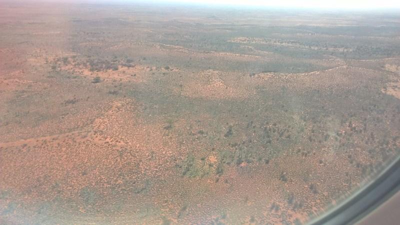 Il territorio dell'Outback visto dall'aereo