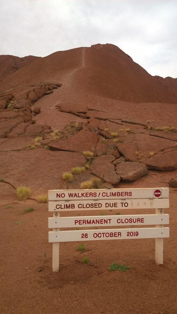 Punto di Uluru da cui partiva la scalata