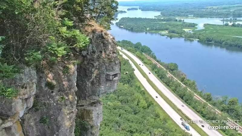 panorama del Mississippi con vista sulla casetta dei falchi