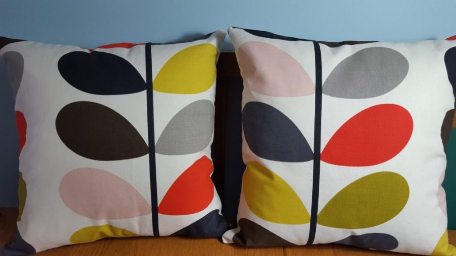 Bespoke cushions made to order in Orla Kiely fabric