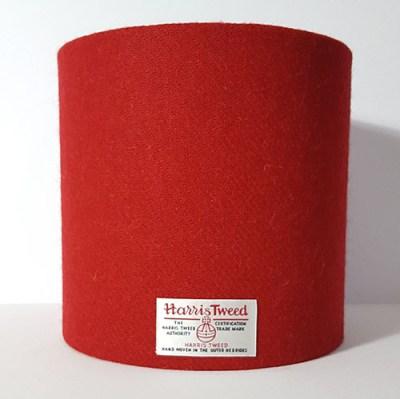 20cm Red Harris Tweed Lampshade