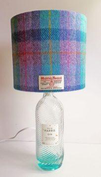 20cm Drum Kingfisher Blue & Violet Harris Tweed